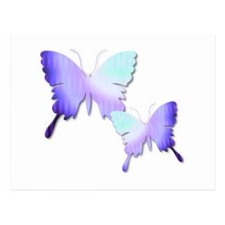 Postal del diseño de la mariposa