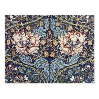 Postal del diseño de la materia textil de la madre