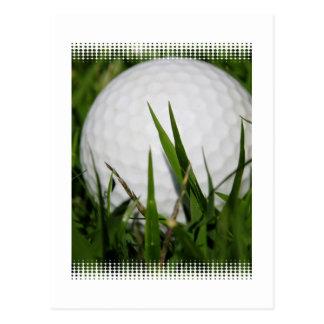 Postal del diseño de la pelota de golf