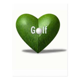 Postal del diseño del amante del golf