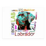 Postal del diseño del arte pop de Labrador