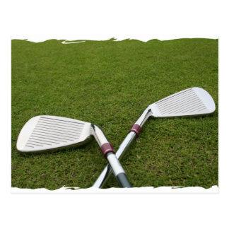 Postal del diseño del club de golf