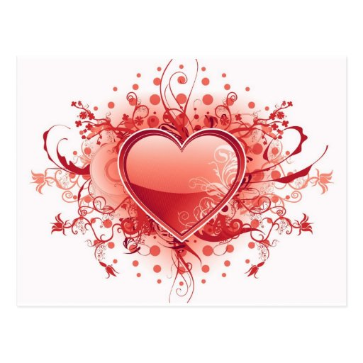 Postal del diseño del corazón de Emo