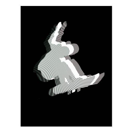 Postal del diseño del logotipo de la snowboard