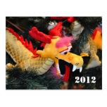 Postal del dragón de 2012 calendarios