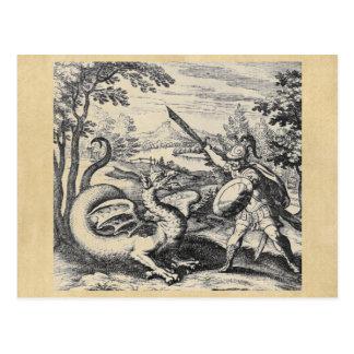 Postal del dragón de la alquimia