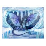 Postal del dragón del hielo por Molly Harrison