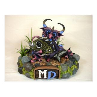 Postal del dragón del MD Cuddlefish