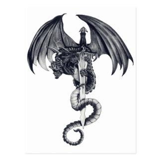 Postal del dragón y de la espada