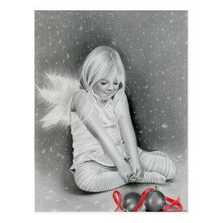 Postal del duende del ángel del alcohol del navida