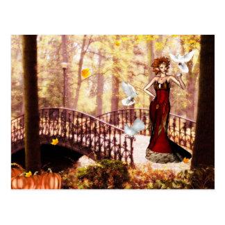 Postal del duende del esplendor del otoño