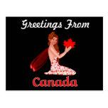Postal del duendecillo de los saludos de Canadá