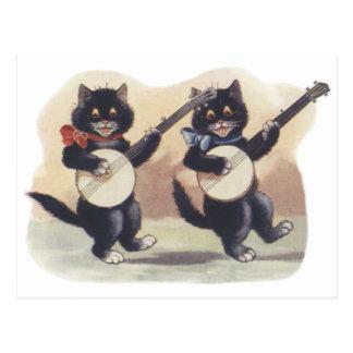 Postal del dúo del gato