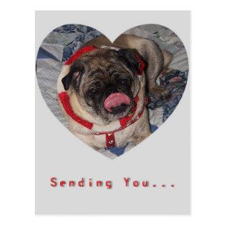 Postal del el día de San Valentín de los barros am