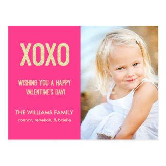 Postal del el día de San Valentín de XOXO
