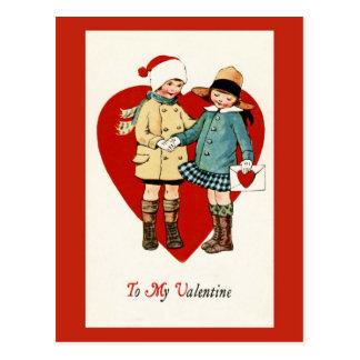 Postal del el día de San Valentín del diseño del v