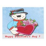 Postal del el día de San Valentín del muñeco de ni