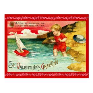 Postal del el día de San Valentín del Victorian