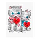 Postal del el día de San Valentín del vintage