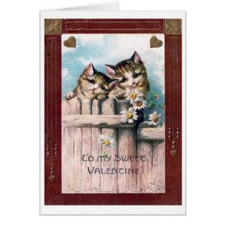 Postal del el día de San Valentín del vintage, pas Tarjeta De Felicitación