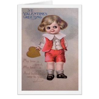 Postal del el día de San Valentín del vintage Tarjeta De Felicitación