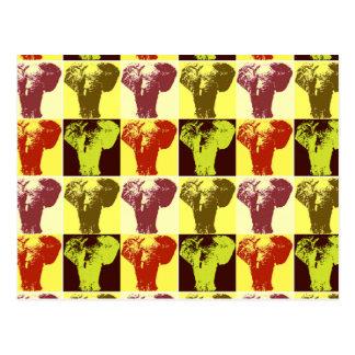 Postal del elefante del arte pop