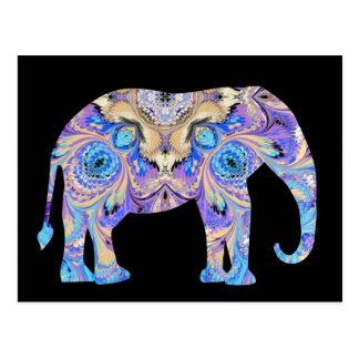Postal del elefante del caleidoscopio
