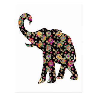 Postal del elefante del Hippie