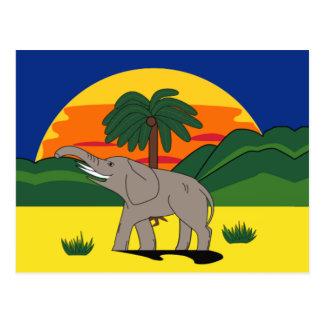 Postal del elefante y de la palmera de Gold Coast