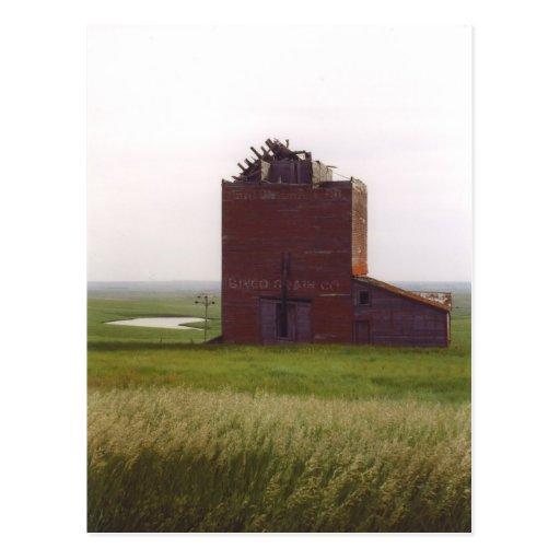 Postal del elevador de grano de Dakota del Sur