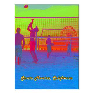 Postal del embarcadero del voleibol de playa de