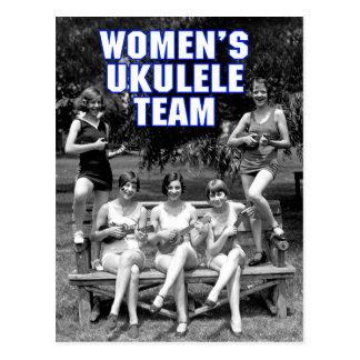Postal del equipo de Uke de la mujer
