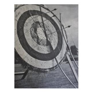 Postal del equipo del tiro al arco