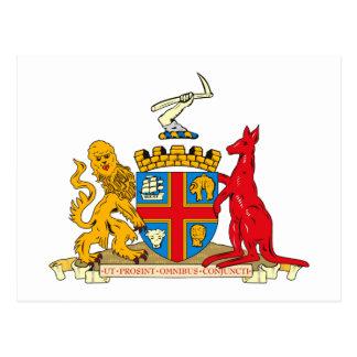 Postal del escudo de armas de Adelaide