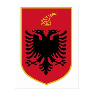Postal del escudo de armas de Albania