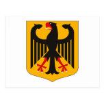 Postal del escudo de armas de Alemania