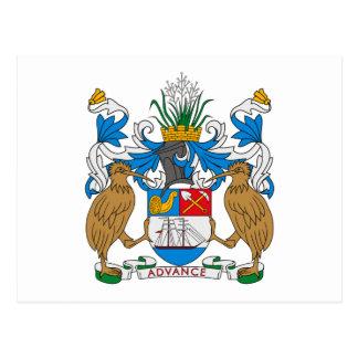 Postal del escudo de armas de Auckland