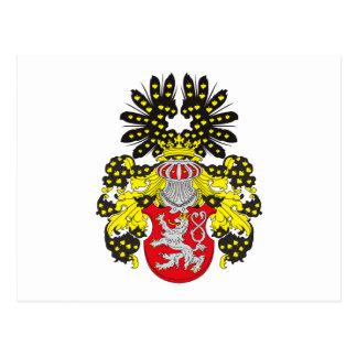 Postal del escudo de armas de Bohemia (siglo XIX)