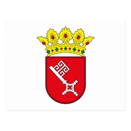 Postal del escudo de armas de Bremen