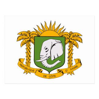Postal del escudo de armas de Costa de Marfil