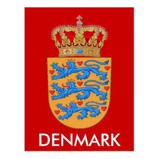 ¡Postal del escudo de armas de Dinamarca! Tarjeta Postal