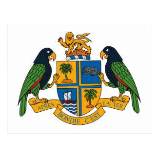 Postal del escudo de armas de Dominica