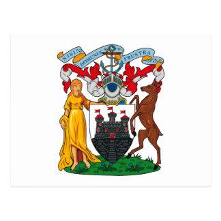 Postal del escudo de armas de Edimburgo