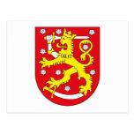 Postal del escudo de armas de Finlandia