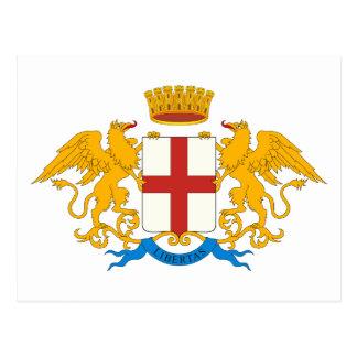 Postal del escudo de armas de Génova