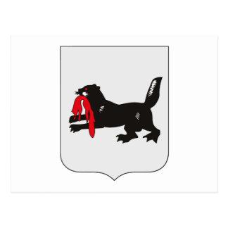 Postal del escudo de armas de Irkutsk