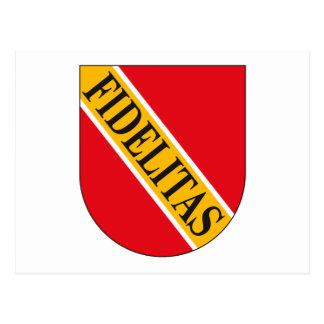 Postal del escudo de armas de Karlsruhe