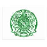 Postal del escudo de armas de Kazajistán