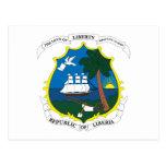 Postal del escudo de armas de Liberia