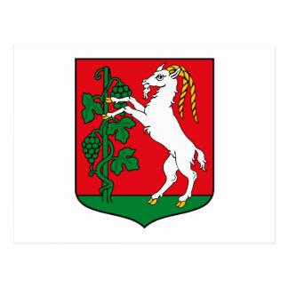 Postal del escudo de armas de Lublin